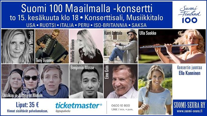 Suomi 100 Maailmalla -konsertti